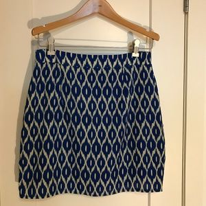 Francesca's - Blue Ikat Skirt